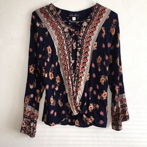 Blue Rain long sleeve blouse